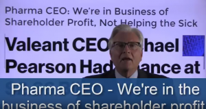We're in the business of shareholder profits